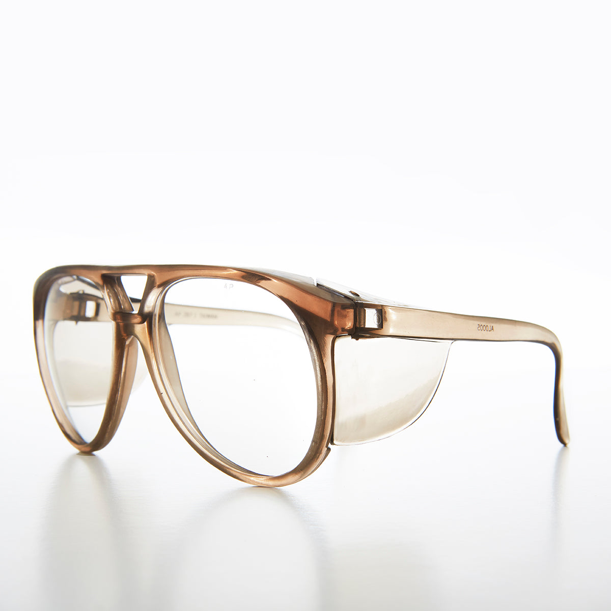 Brown Aviator Safety Glasses with Side Shields - Vern