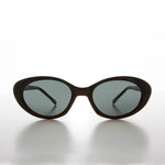 Mod Black Cat Eye Sunglass Unisex 90s Vintage