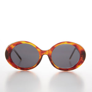 Thick Oval Mod Retro Women's Sunglass