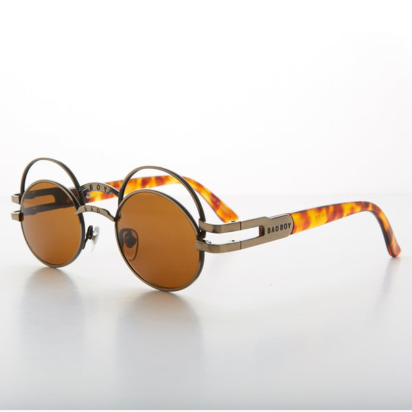 double cross bridge punk oval vintage sunglasses