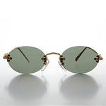 Load image into Gallery viewer, Chic Oval Rimless 90s Minimalistic Vintage Sunglass