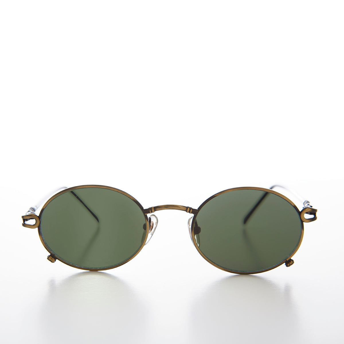 Small Oval Combination Hip Hop Vintage Sunglasses -  Angel