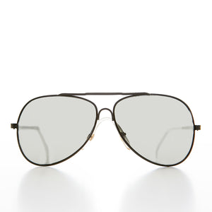 Aviator Vintage Sunglass with 58mm Mirror Lens