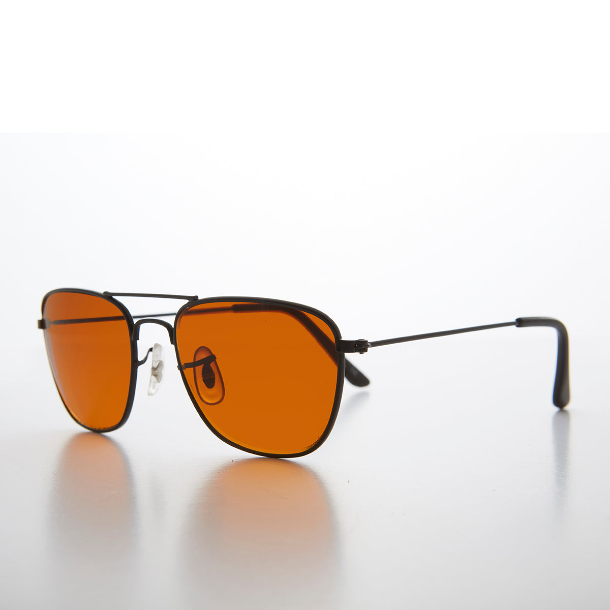 Small Square Amber Colored Lens Aviator