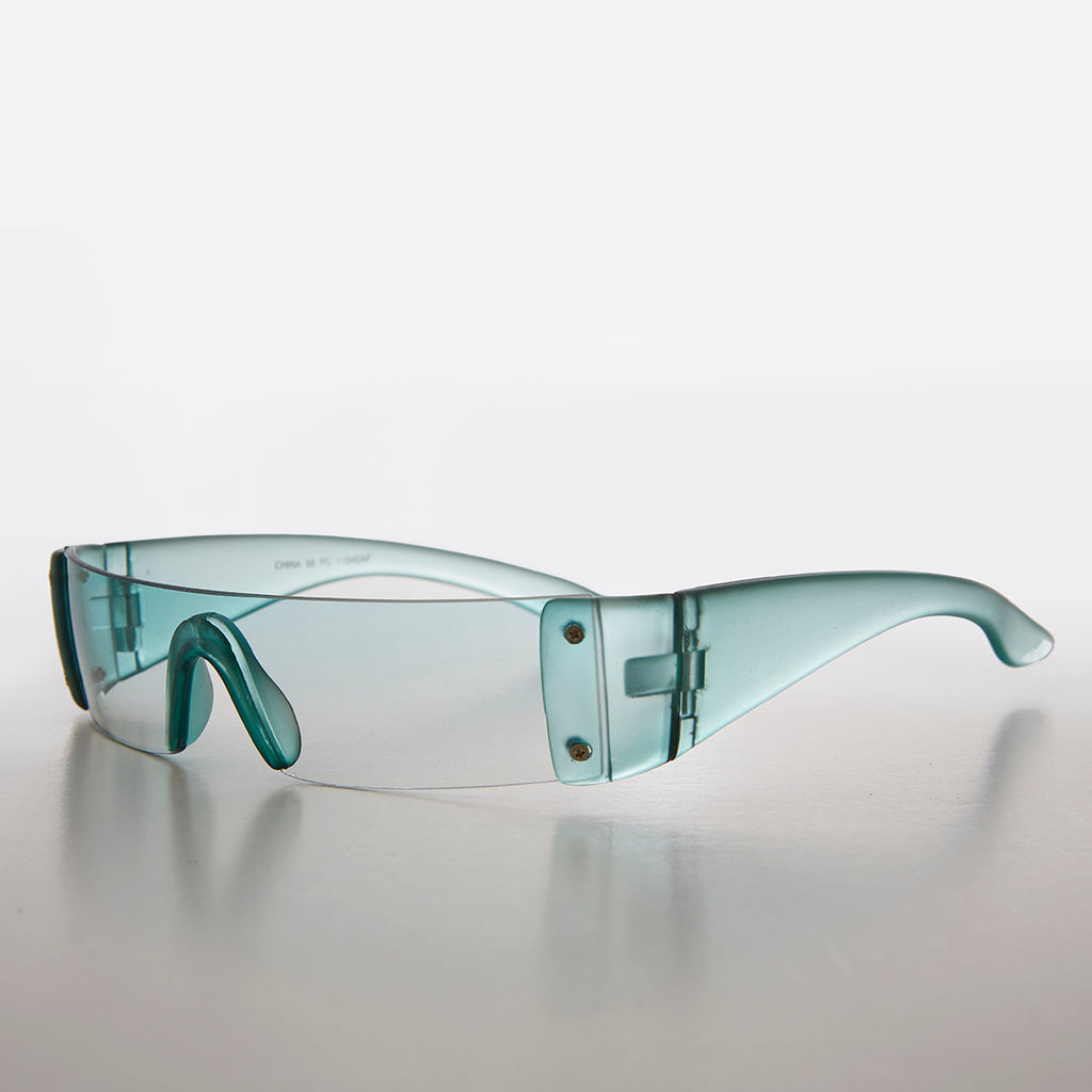 Colored Lens Mini Visor Wrap Deadstock Sunglass