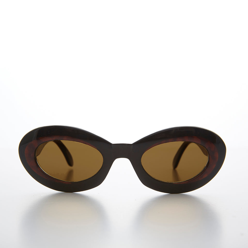 Glam Cat Eye Sunglass with Gold Bling