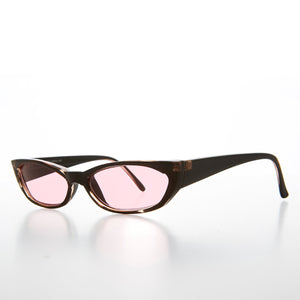 Mod Cat Eye Sunglass with Tinted Lenses