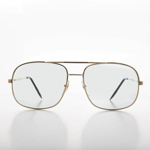 square transition lens vintage aviator sunglass