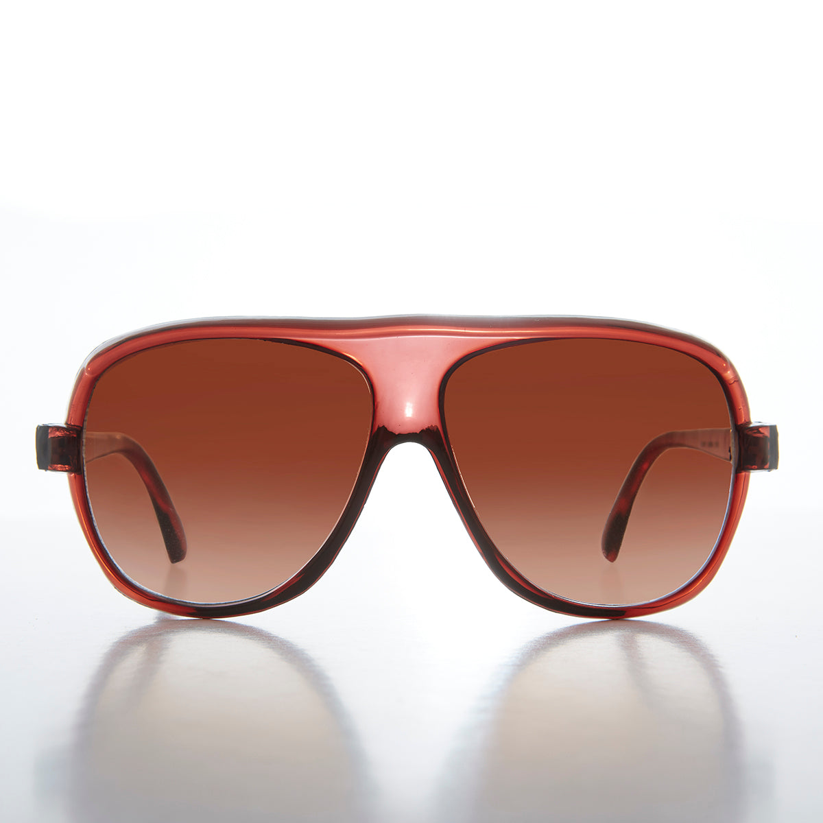 1980s square true vintage aviator with gradient lens