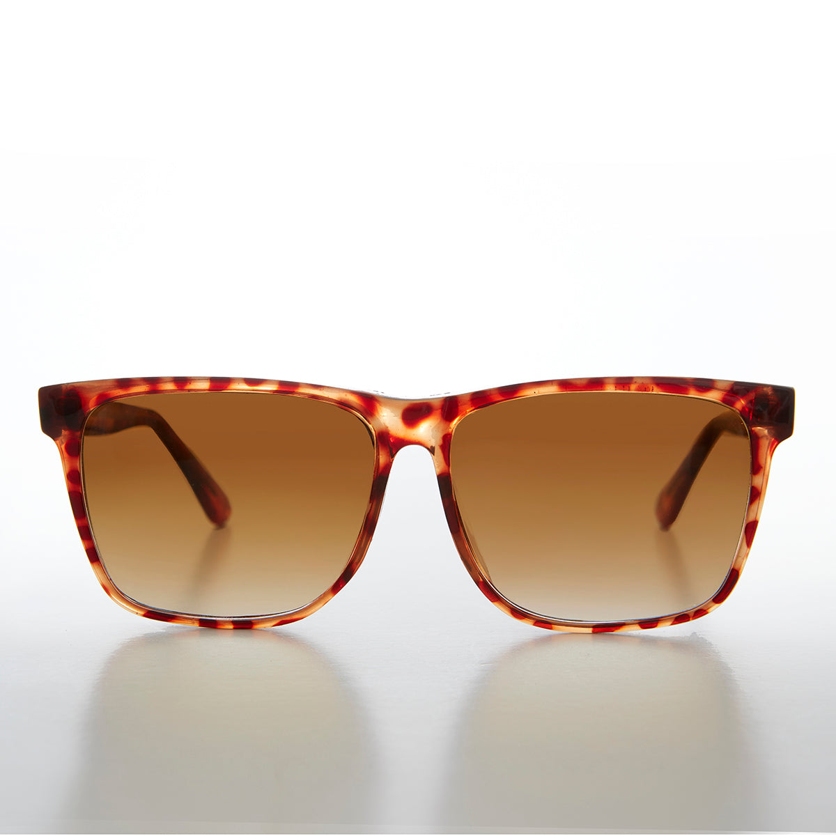 Simple Wide Square Vintage Tortoise Sunglass