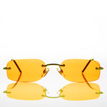 Load image into Gallery viewer, orange lens rimless sunglass