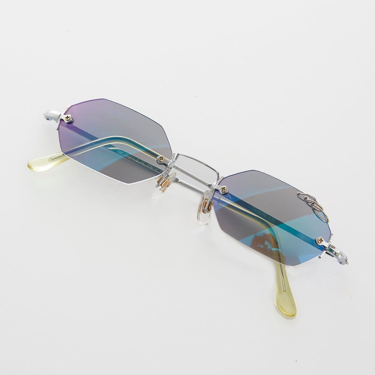 Tripple Pierced Hexagon Vintage Sunglass