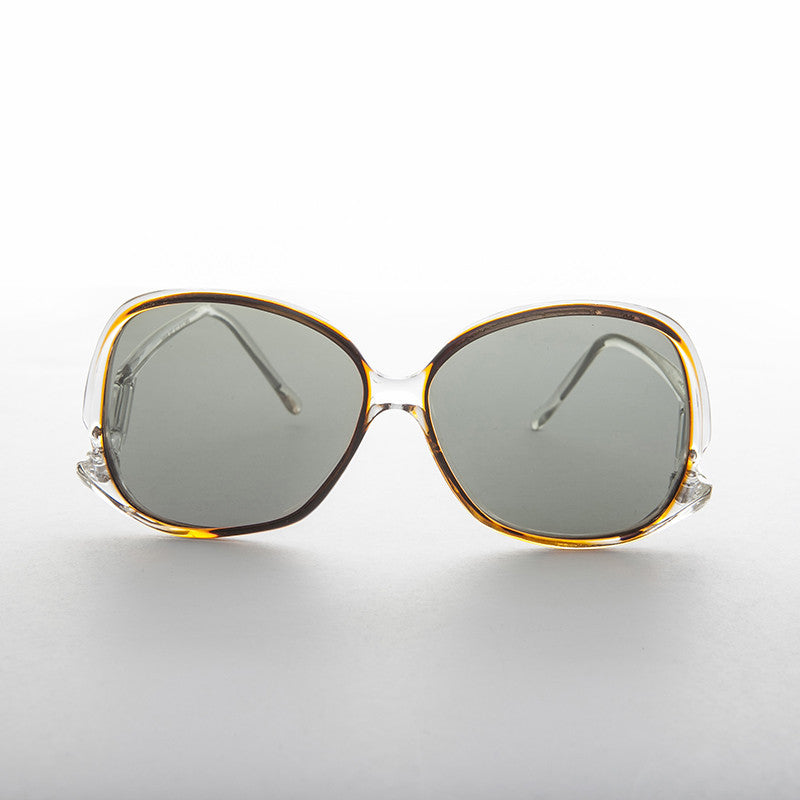 women's polarized vintage sunglass with drop temples