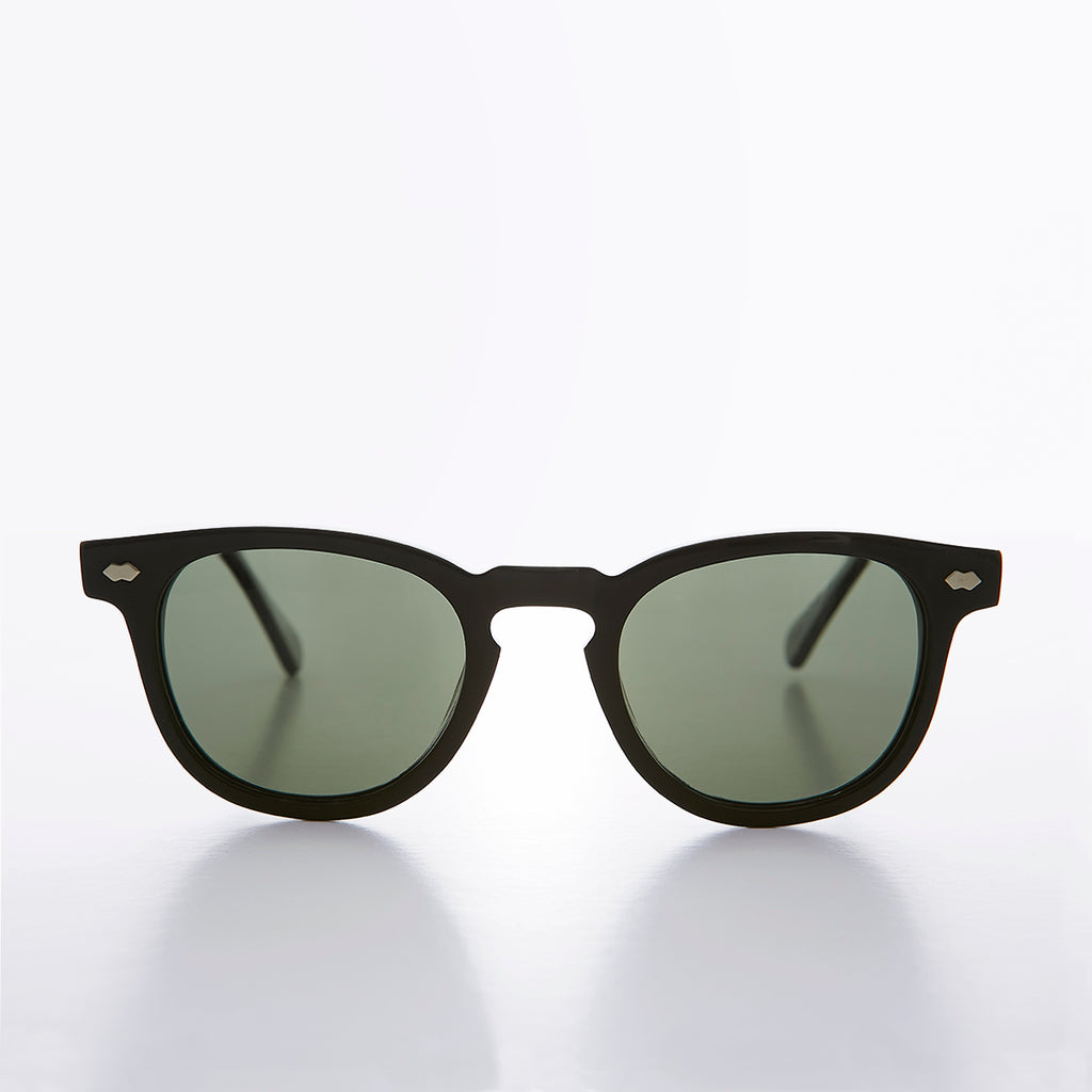 Black Polarized Square Sunglass - Benson