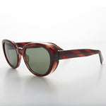 Load image into Gallery viewer, black rounded vintage cat eye sunglass