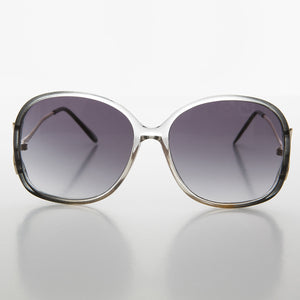 clear and gray  oversized womens butterfly vintage sunglass