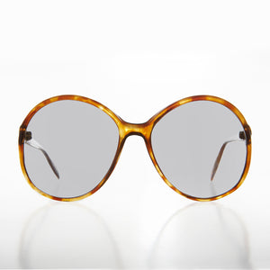 Oversized Round Transition Lens 80s Vintage Sunglass