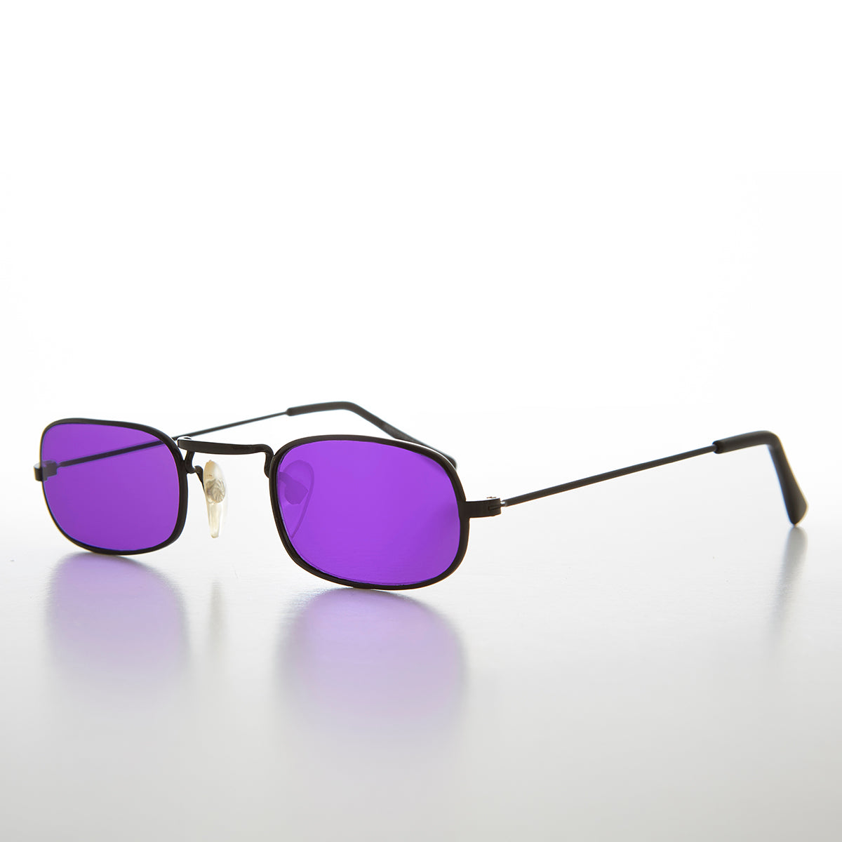 Small Color Lens Rectangle Frame Vintage Sunglass