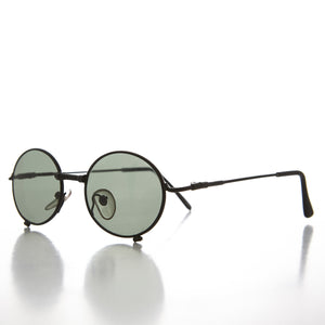Industrial Steampunk 90s Sunglass with Oval Optical Quality Frame Glass Lens -  Blaster