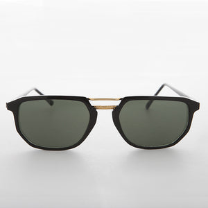 flat top 90s vintage aviator sunglass
