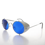 folding steampunk sunglass with side shields