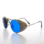 Load image into Gallery viewer, folding steampunk sunglass with side shields