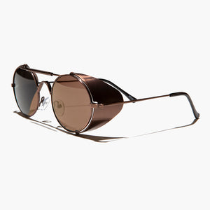 Black Steampunk Sunglass with Folding Side Shields