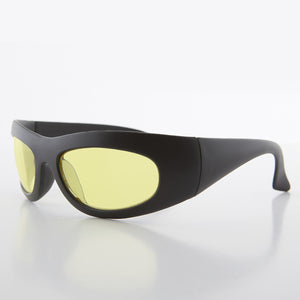 Yellow Lens Biker Wrap Sports dead stock Sunglasses - Cade