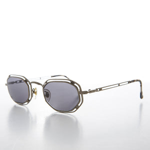 metal rectangle steampunk sunglass