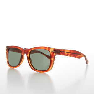 Classic Square Sunglass with Glass Lens