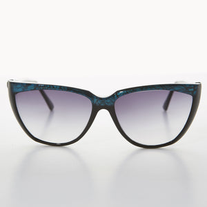 Womens Vintage Sunglass with Pretty Colored Brow Line - Carol