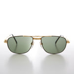 Gold Low Profile Fancy Aviator Vintage Sunglass