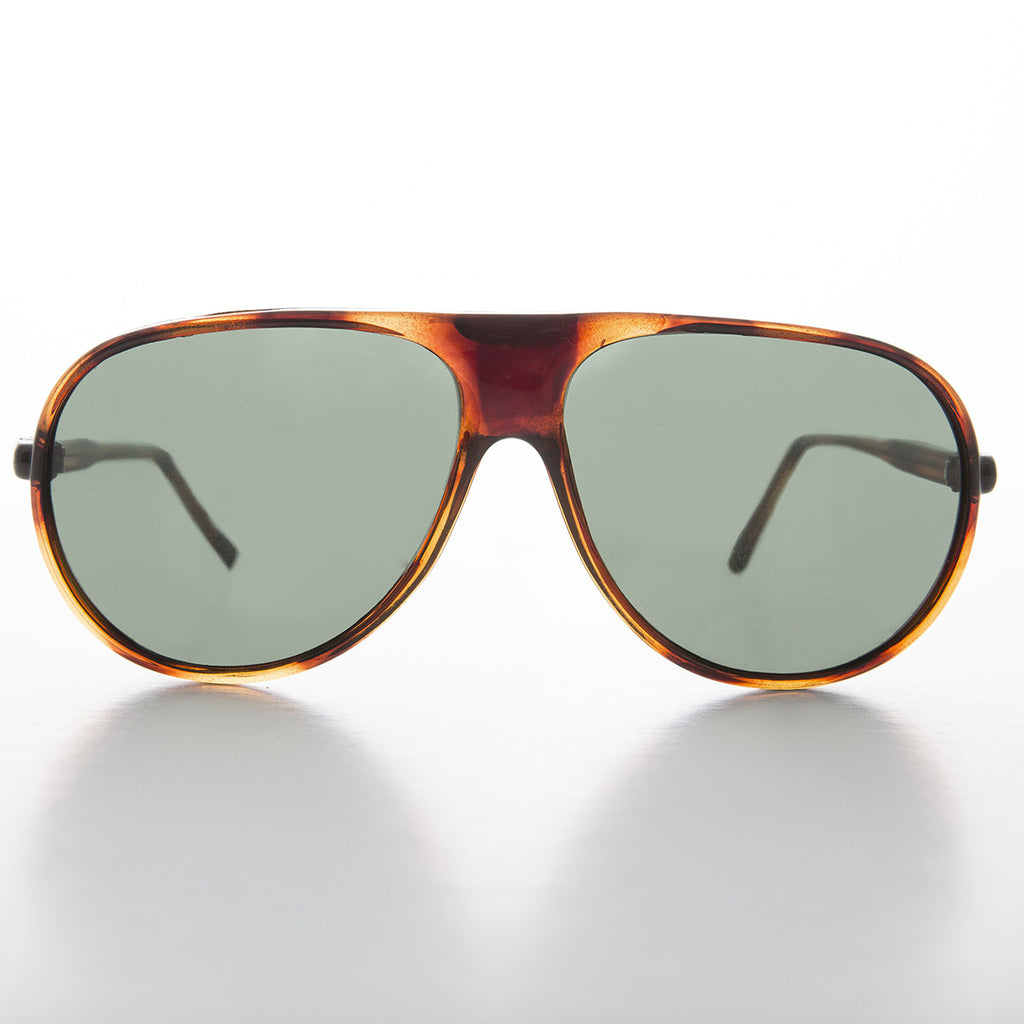 tortoise vintage aviator sunglass with glass lens