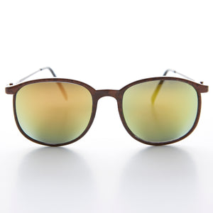 gold mirror annie hall classic vintage sunglass