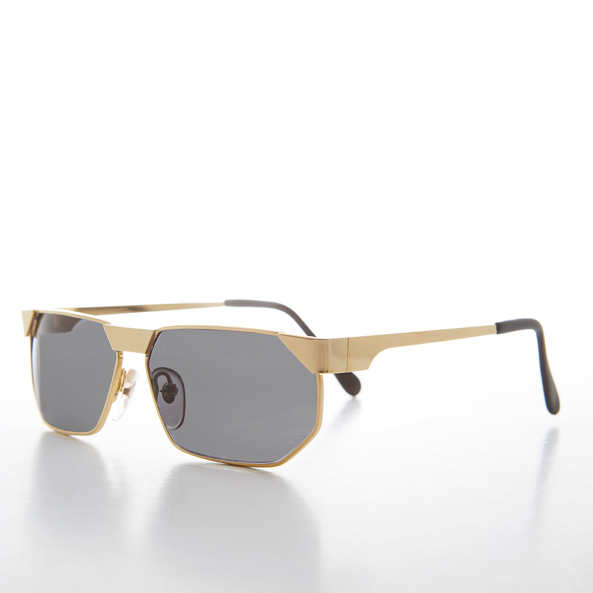80s bling hip hop polygon gold frame