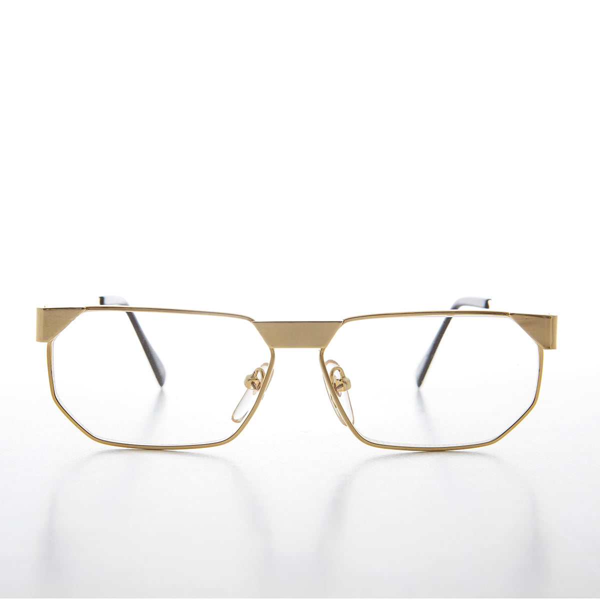 bc530f98c545 Gold polygon frame vintage glasses clifton sunglass museum jpg 1200x1200  Glasses from the 80s