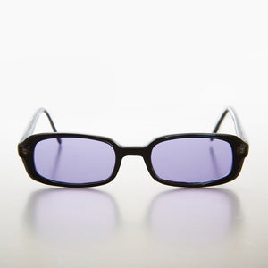 Rectangular purple Color Tinted Lens 90s Vintage Sunglass