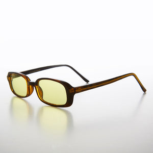 Rectangular yellow Color Tinted Lens 90s Vintage Sunglass