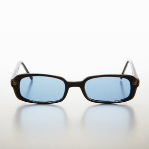 Rectangular blue Color Tinted Lens 90s Vintage Sunglass