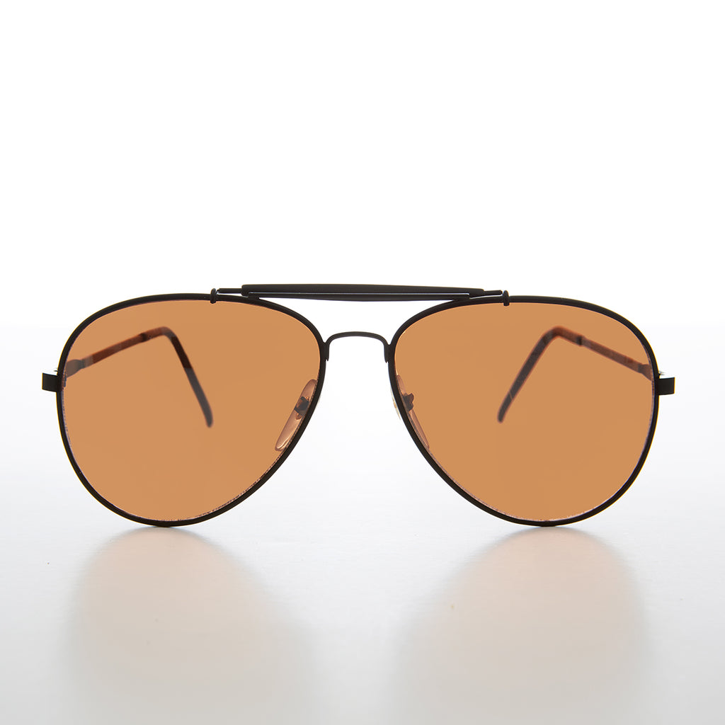 Classic Vintage Aviator with Copper Driving Lens