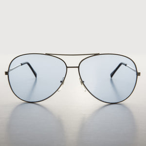 blue lens aviator sunglass