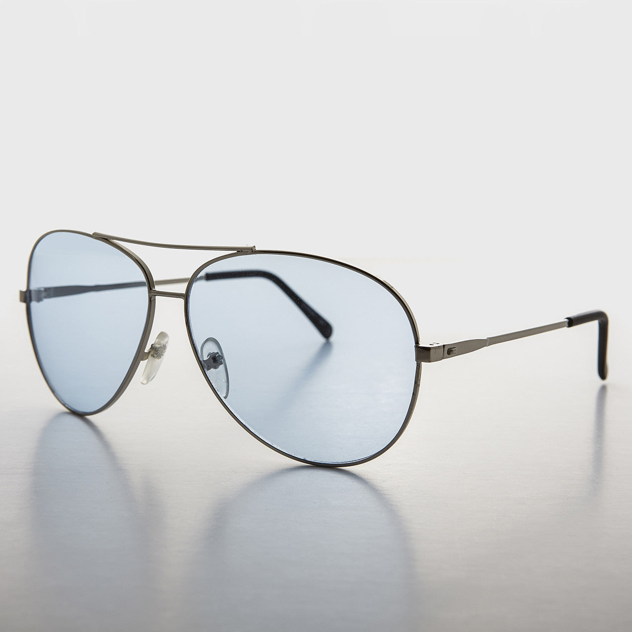 blue lens aviator sunglas
