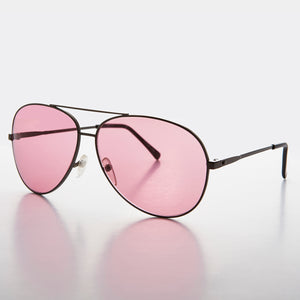 Colored Lens Aviator Vintage Sunglass - Corbain