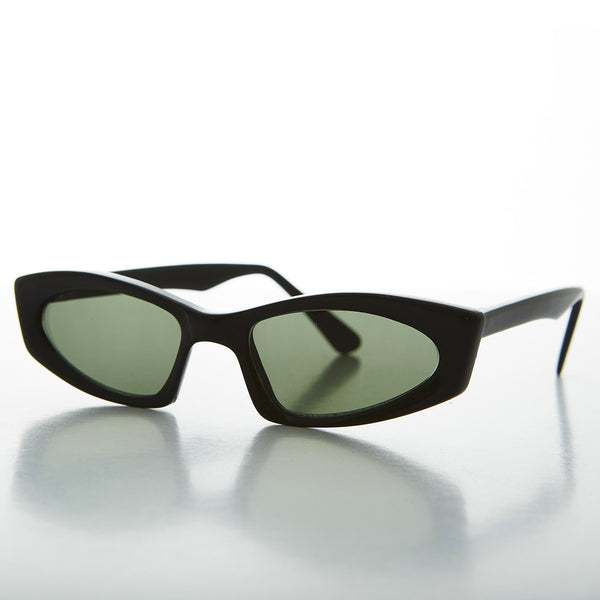 black unique square vintage cat eye sunglasses
