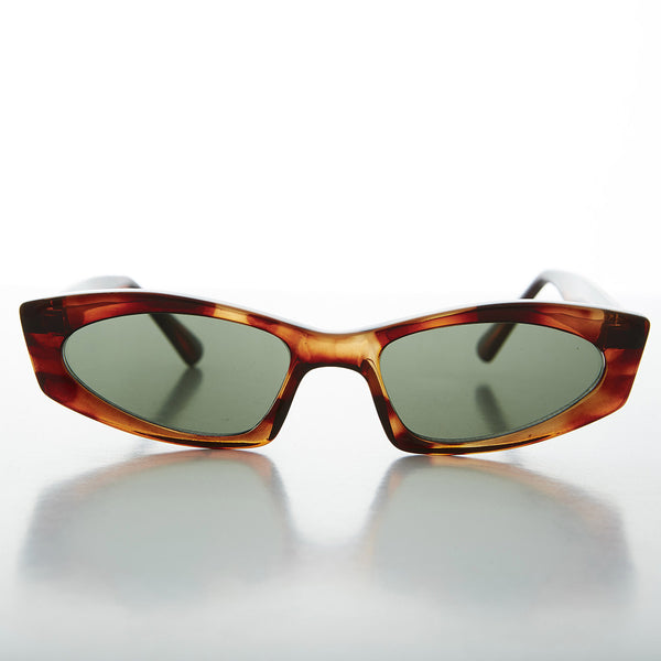 tortoiseshell unique square vintage cat eye sunglasses