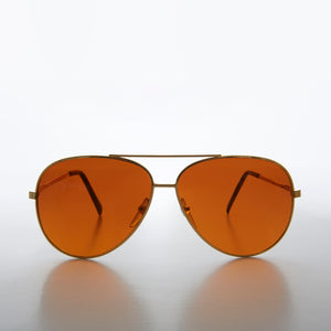 Classic aviator with orange blue blocker lens