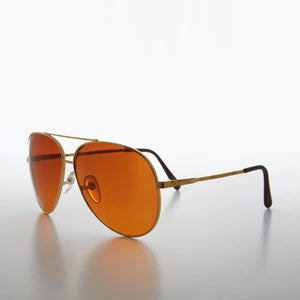 Classic Aviator with Orange Blue Blocker Lenses