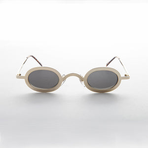 90s gold oval goth steampunk vintage sunglasses