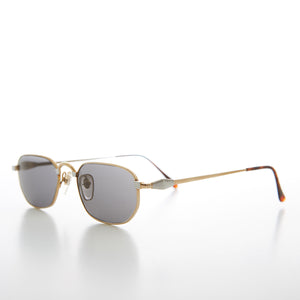 Small Rectangular Silver or Gold Vintage Sunglass