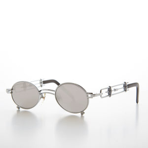 Small Oval Steampunk Vintage Sunglass